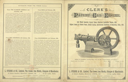 Advert For Clerk's Gas Engine, L. Sterne & Co. Limited